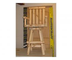 Log Bar Stool - with arms