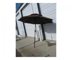 9' Two Tier Patio Umbrella with Crank